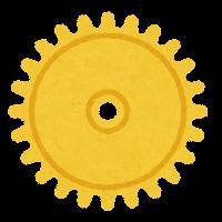 ギアのイラスト(黄色)