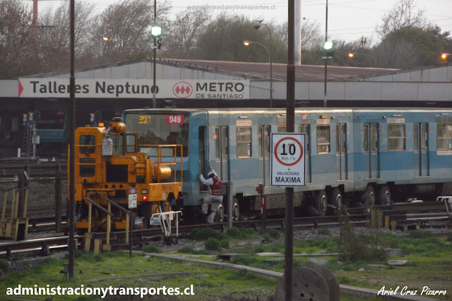 Talleres Neptuno, trackmobile y tren Alsthom NS74
