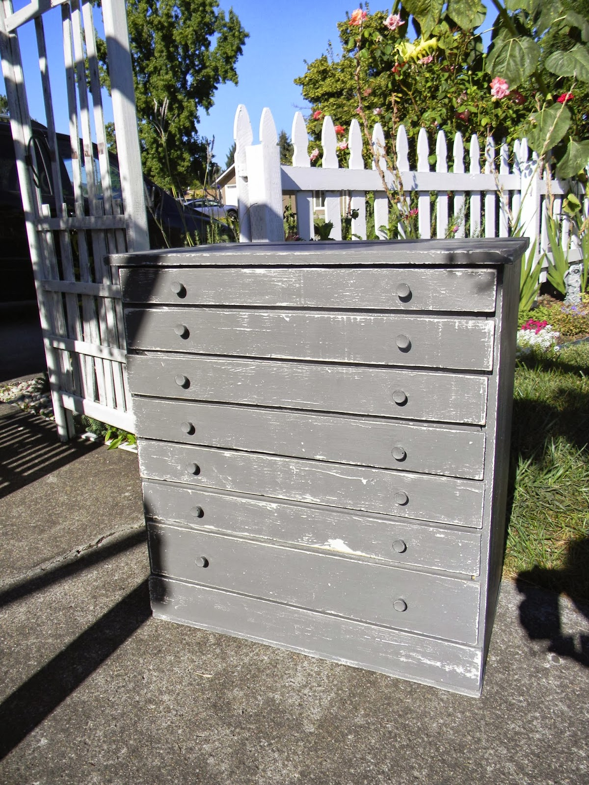 Emily S Up Cycled Furniture Tall Blue Grey Distressed Dresser: Emily's Up-cycled Furniture: Touch Of Grey