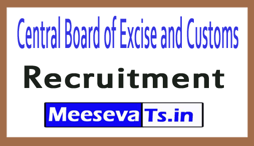 Central Board of Excise and Customs CBEC Recruitment