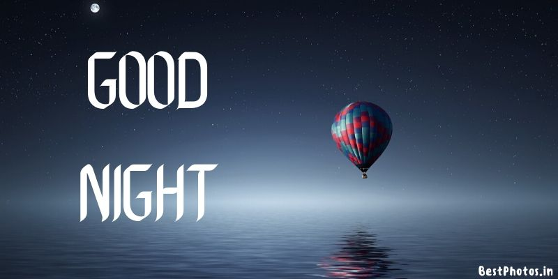 good night images with ballon