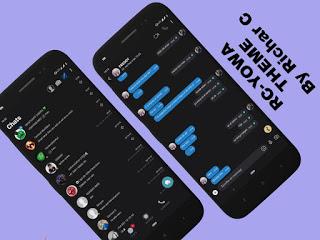 SKP Bluedark Theme For YOWhatsApp & RC WhatsApp By Richar