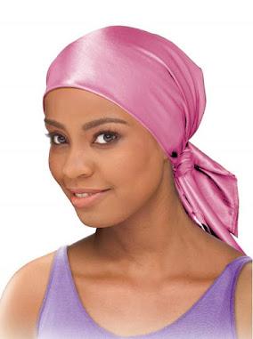 Plain Shiny Pink Satin Head Scarf