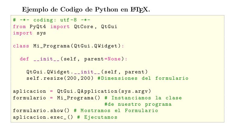 Python highlighting en LaTeX ~ Snifer@L4b's