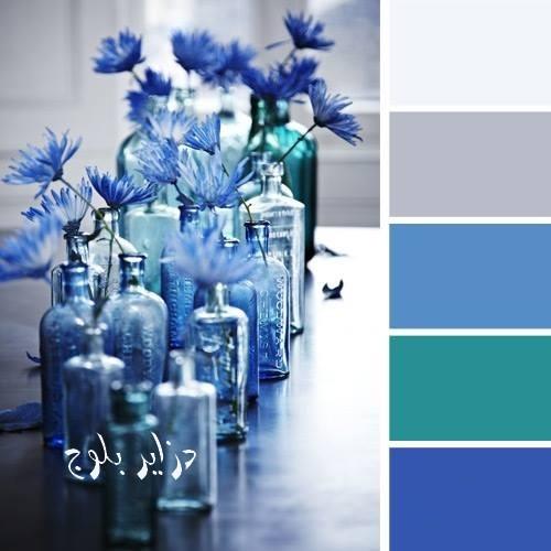 تناسق الالوان مع اللون الازرق