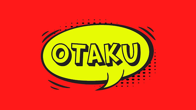Yellow bubble with the word otaku