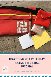 how ti make a role play postman mail bag tutorial