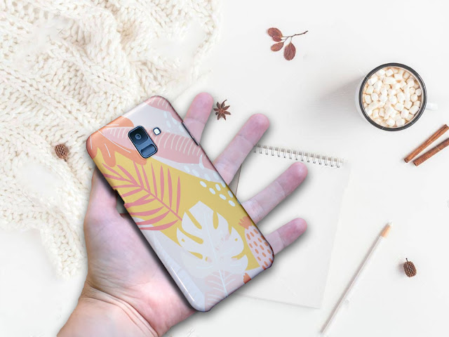 Mockup Custom Case 3D SAMSUNG Galaxy A6 Gratis