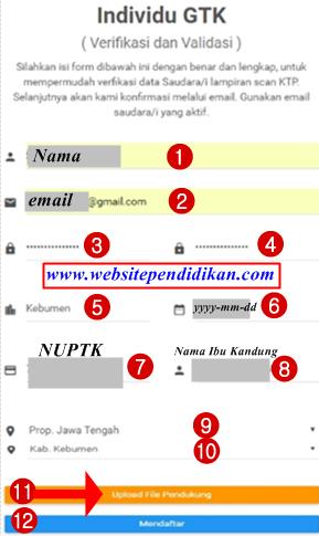 Cara Mendaftar Akun Verval Individu GTK di http://gtkedit.data.kemdikbud.go.id dan Cara Cek Status Pendaftarannya
