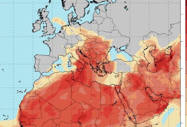 Έρχεται αποπνικτικό Σαββατοκύριακο με υψηλές θερμοκρασίες και αφρικανική σκόνη