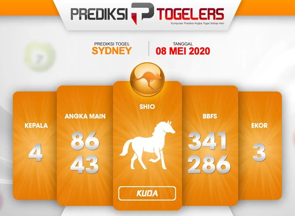 Prediksi Togel Sydney Jumat 08 Mei 2020 - Prediksi Togelers