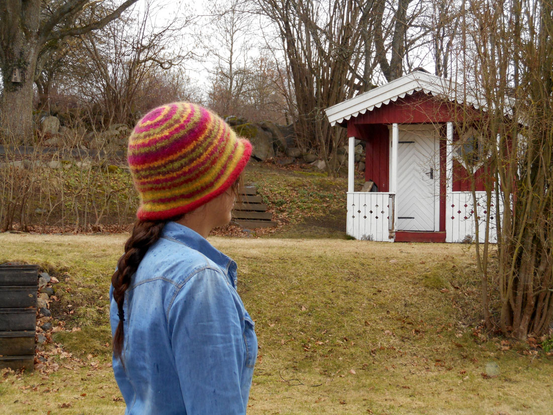 Cappello di lana infeltrito