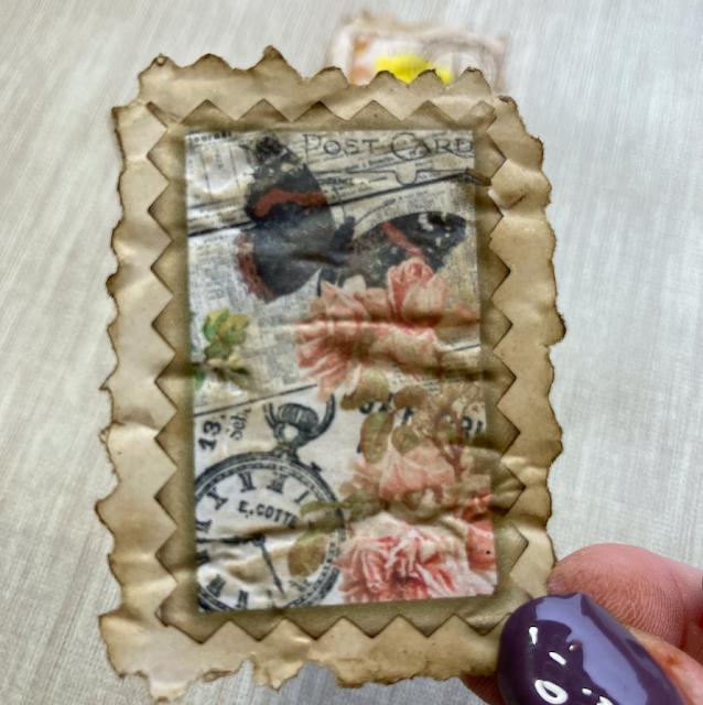 Faux Vintage Postage Stamps