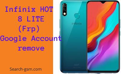 infinix HOT 8 LITE Bypass Google Account