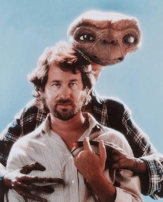 Steven Spielberg con E.T.