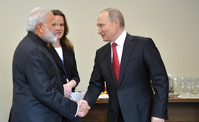 Vladimir Putin met with Prime Minister of India Narendra Modi on the sidelines of the St Petersburg International Economic Forum.