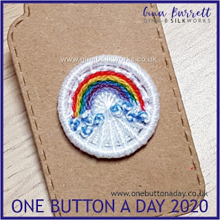 One Button a Day 2020 by Gina Barrett - Day 92 : Rainbow