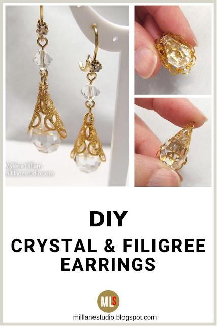 Filigree Wrapped earrings inspiration sheet