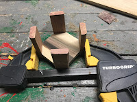 Clamping everything until the glue dried