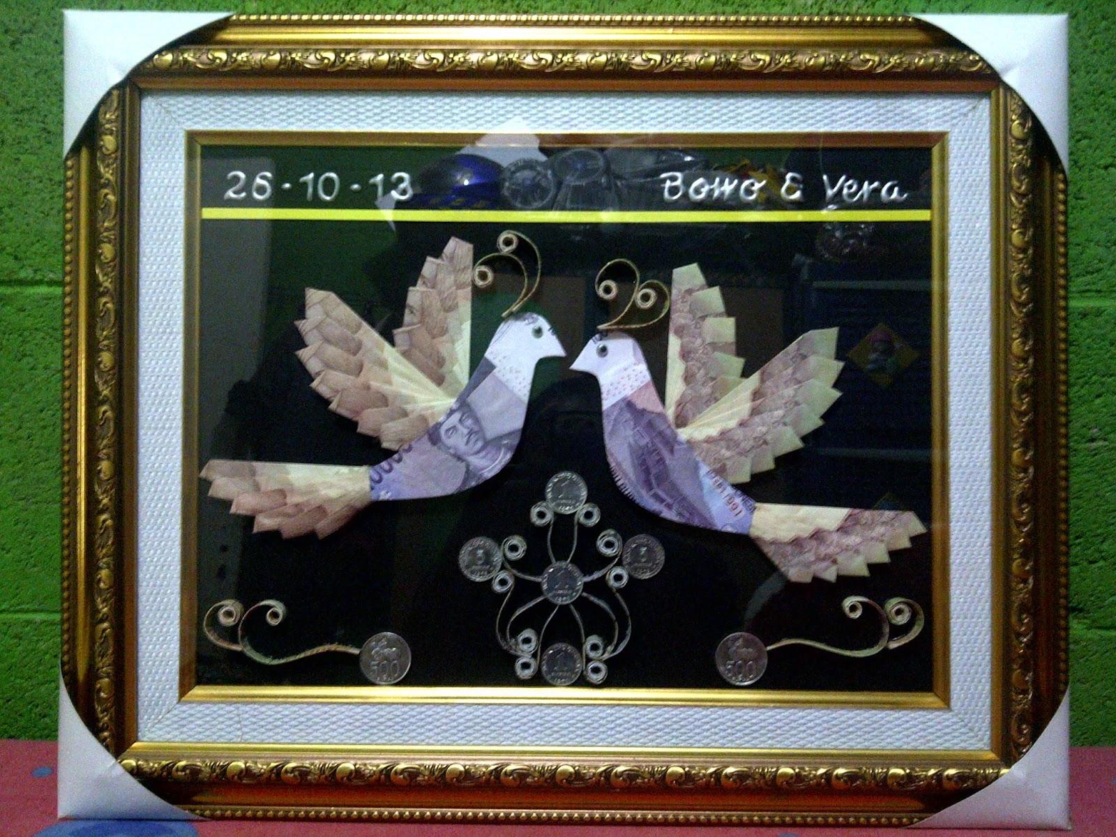 Kaligrafi Burung Merpati Nusagates