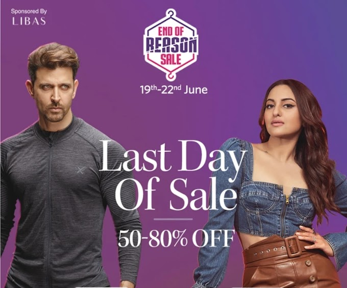 (OVER) Myntra Looting Offers : End of reason Sale + Share link and Earn upto ₹500 (Last Day)