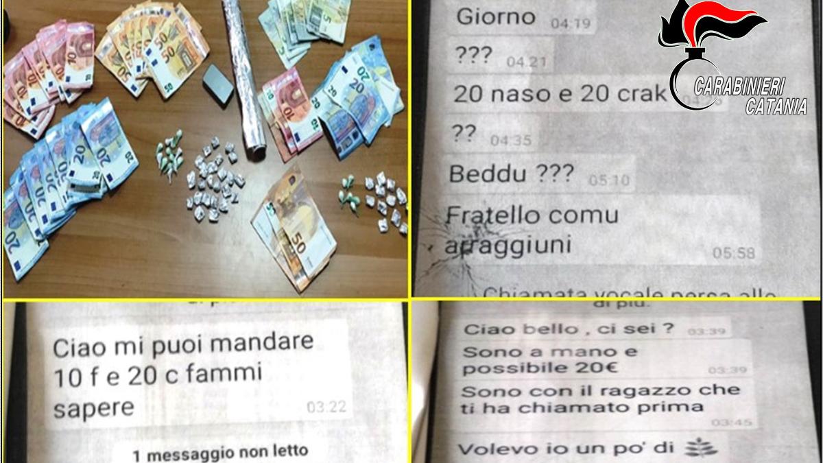 Delivery droga Whatsapp Nesima Carabinieri