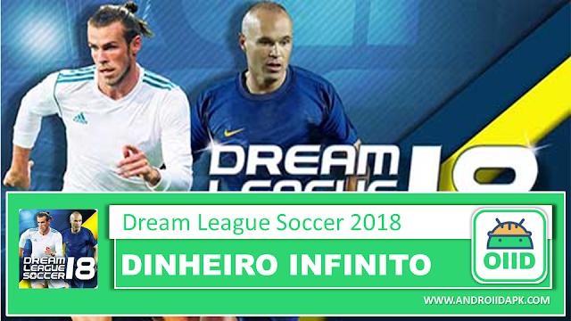 Dream League Soccer 2018 v6.13 – APK MOD HACK – Dinheiro Infinito