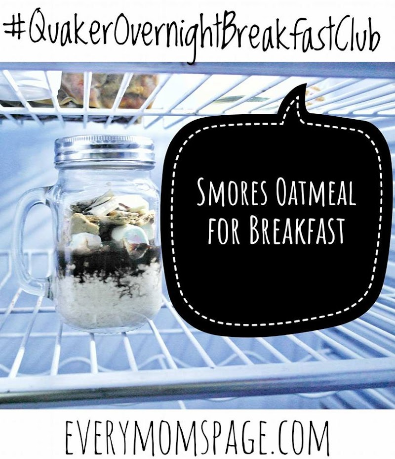 #QuakerOvernightBreakfastClub S'mores Oatmeal