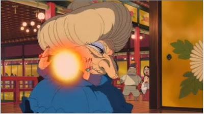 湯婆婆がカオナシに放ったエネルギー弾はかめはめ波だった!その説明には(ドラゴンボール風)と書いてある!