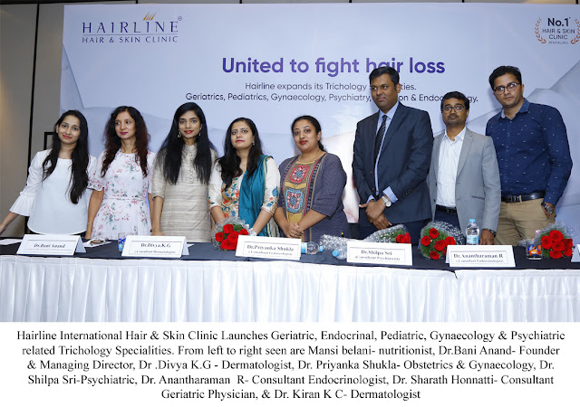 Hairline International Launches Geriatric, Endocrinal, Pediatric, Gynaecology & Psychiatric related Trichology Specialities