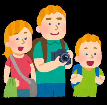 海外の家族旅行