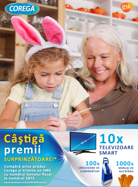 Concurs Corega - Castiga 10 Televizoare Samsung Smart, 4K Ultra HD - castiga.net