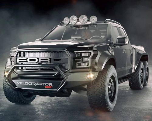 www.Tinuku.com Hennessey VelociRaptor 6X6 boost 600 horsepower Ford F-150 Raptor truck