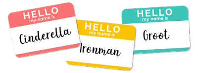 Graphic of name tags.