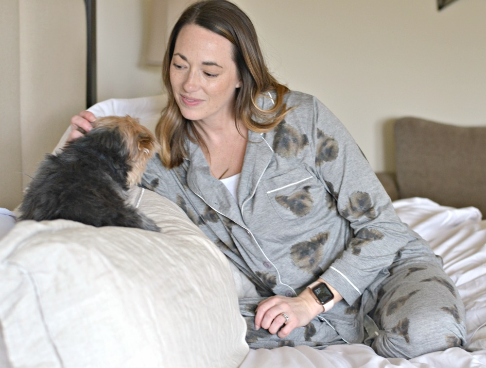 rescue dog on custom pajamas
