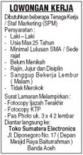 Lowongan Kerja Seurambi Cafe Resto Coffee Karir Aceh