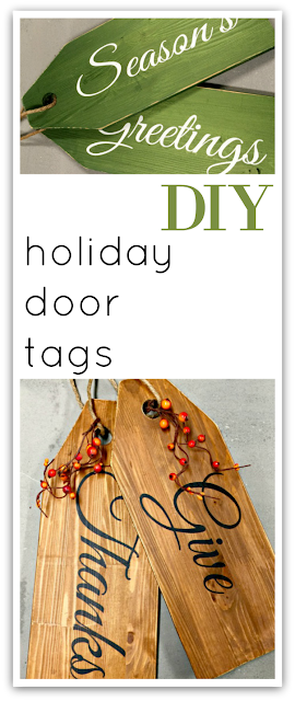 Pinterest pin for wooden door tags