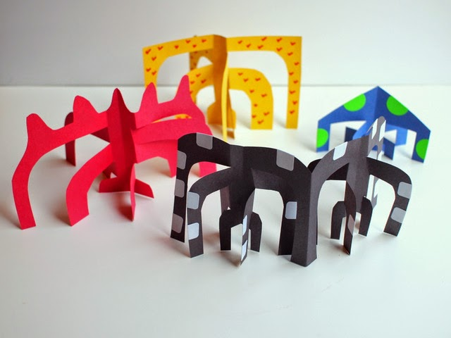 Calder-inspired sculptures- kids art project