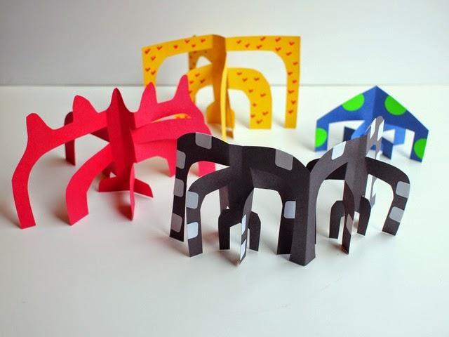 Calder-inspired sculptures- kids art project
