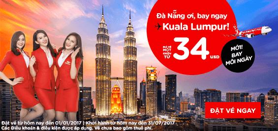 Mua vé máy bay Air Asia khuyến mãi giá rẻ mới nhất 34 usd