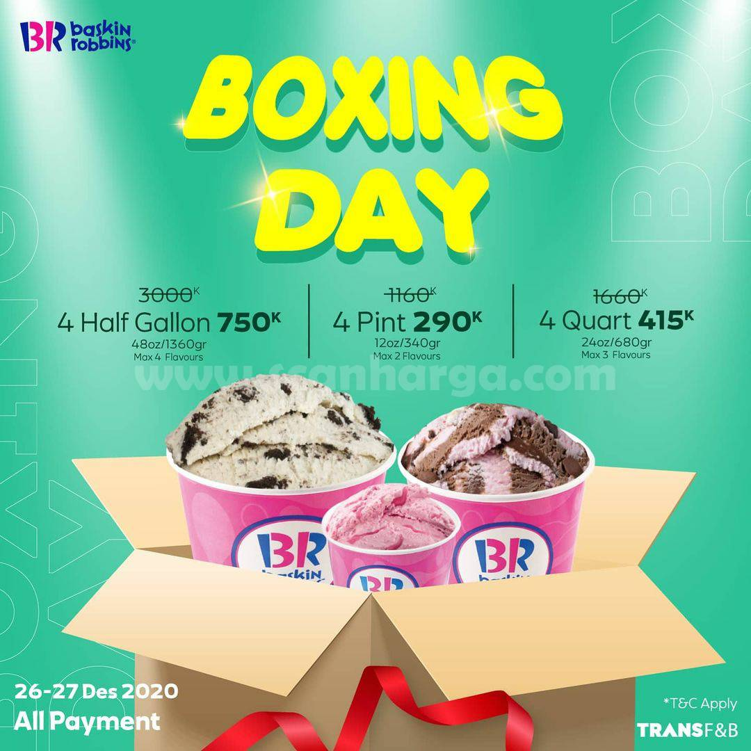 BASKIN ROBBINS Promo BOXING DAY!