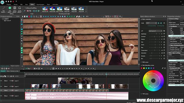Descargar Editor de video gratuito VSDC
