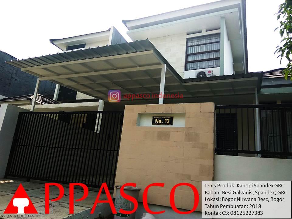Kanopi Spandek Minimalis Dengan GRC Peredam di Bogor Nirwana Residence