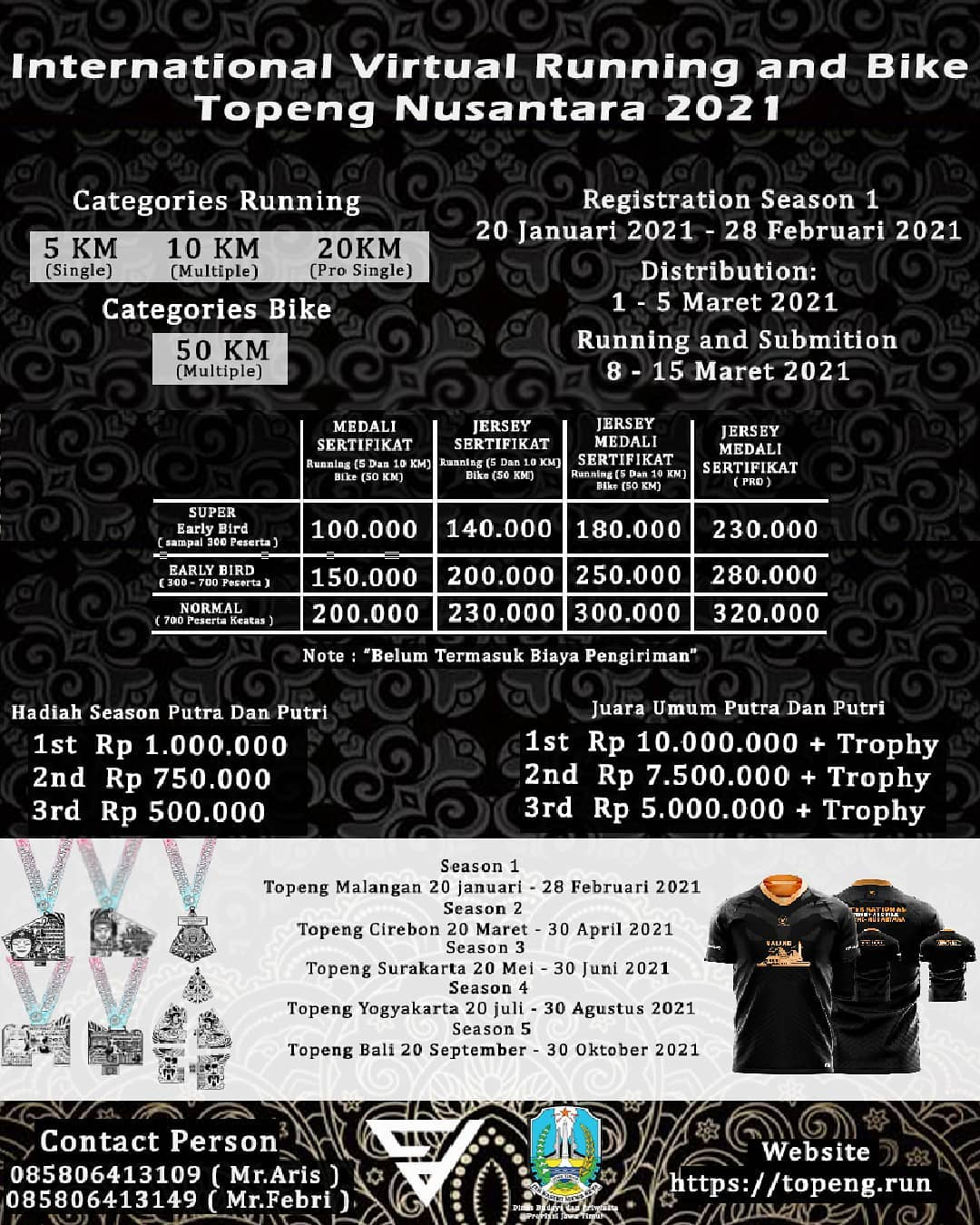 International Running, Bike and Photography - Topeng Nusantara • 2021