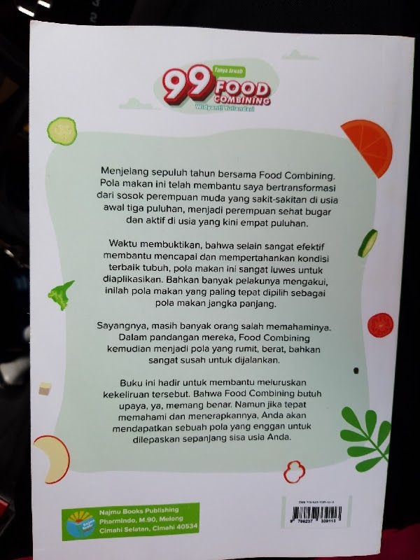 Review Buku: 99 Tanya Jawab Food Combining