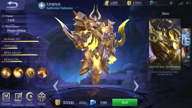 Cara Jitu Mendapatkan Hero Baru Uranus Gratis