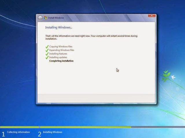 Menyempurnakan instalasi Windows 7