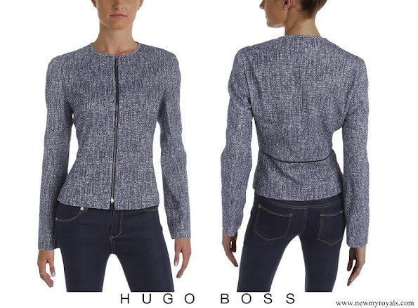 Queen Letizia wore Hugo Boss Karonita Tweed Jacket