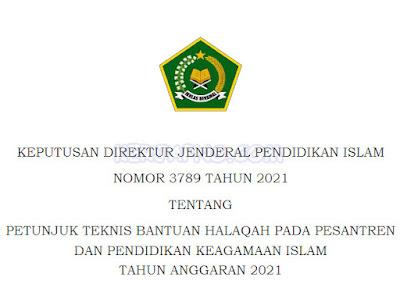 Bantuan Pesantren dan Pendidikan Keagamaan Islam Tahun Anggaran 2021