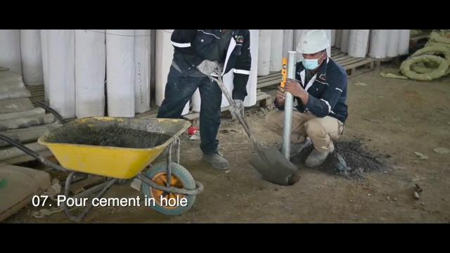 cara pasang pagar brc di tembok